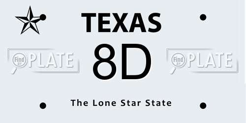 Reports For Plate Number 8D In Texas, United States