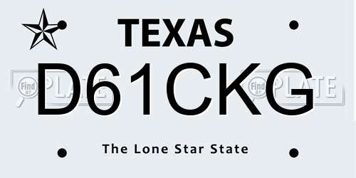 Reports For Plate Number D61CKG In Texas, United States