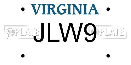 reports for plate number jlw9 in virginia, united states