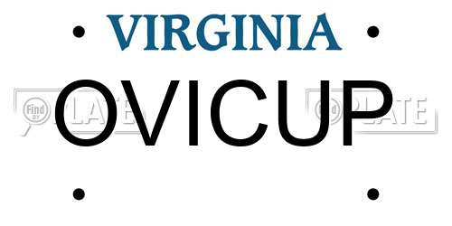 reports for plate number ovicup in virginia, united states