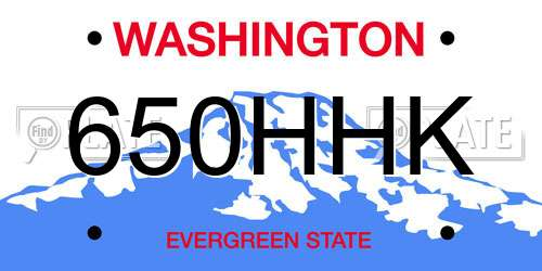 Reports For Plate Number 650HHK In Washington, United States