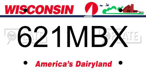 621MBX Wisconsin License Plate