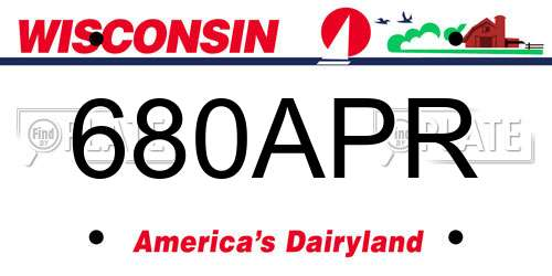 680APR Wisconsin License Plate