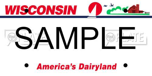 Sample Wisconsin License Plate