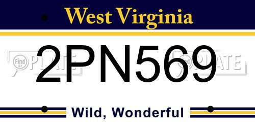 2PN569 West Virginia License Plate