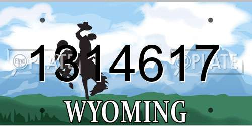 1314617 Wyoming License Plate