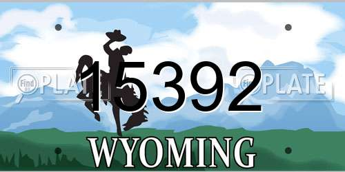 15392 Wyoming License Plate