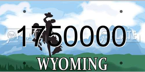 1750000 Wyoming License Plate