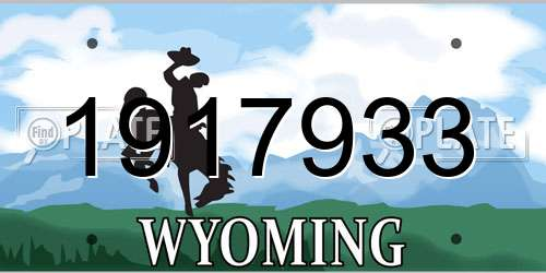 1917933 Wyoming License Plate