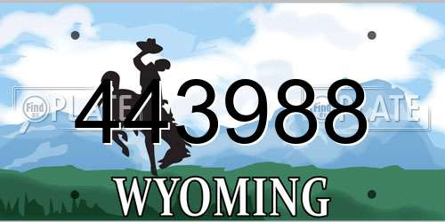 443988 Wyoming License Plate